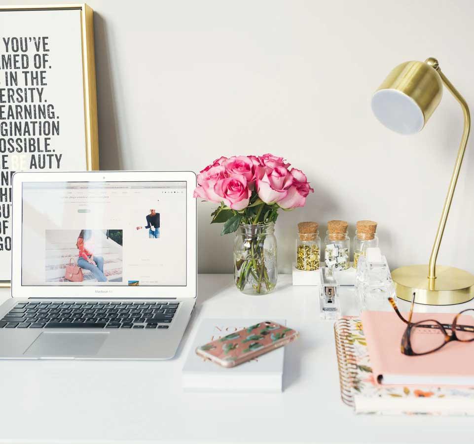 hjemmeside til dekoratør og stylist